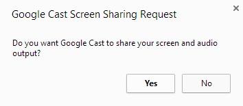 Allow Desktop Casting