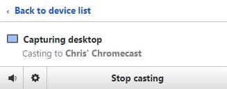 Stop casting Chrome