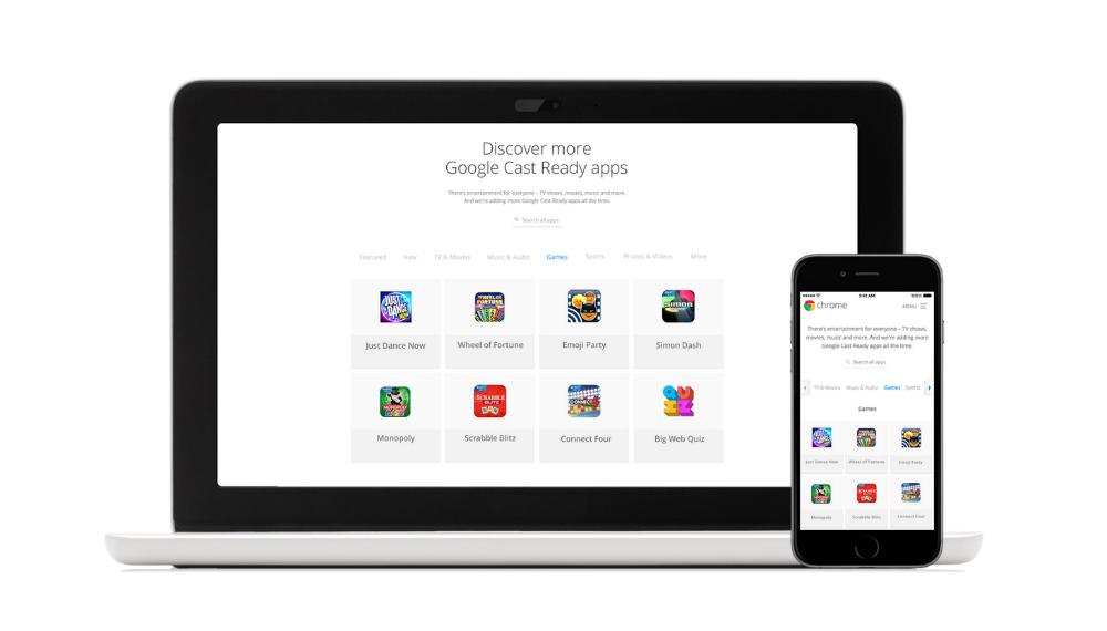Chromecast more apps