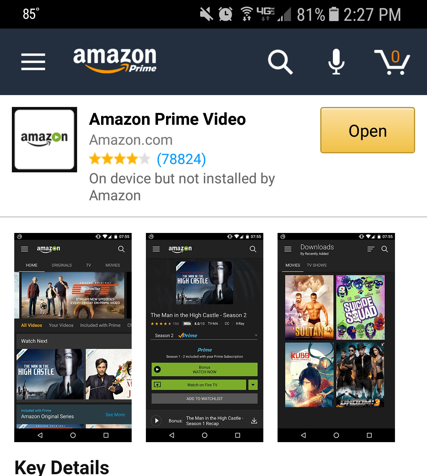 amazon prime video on chromecast